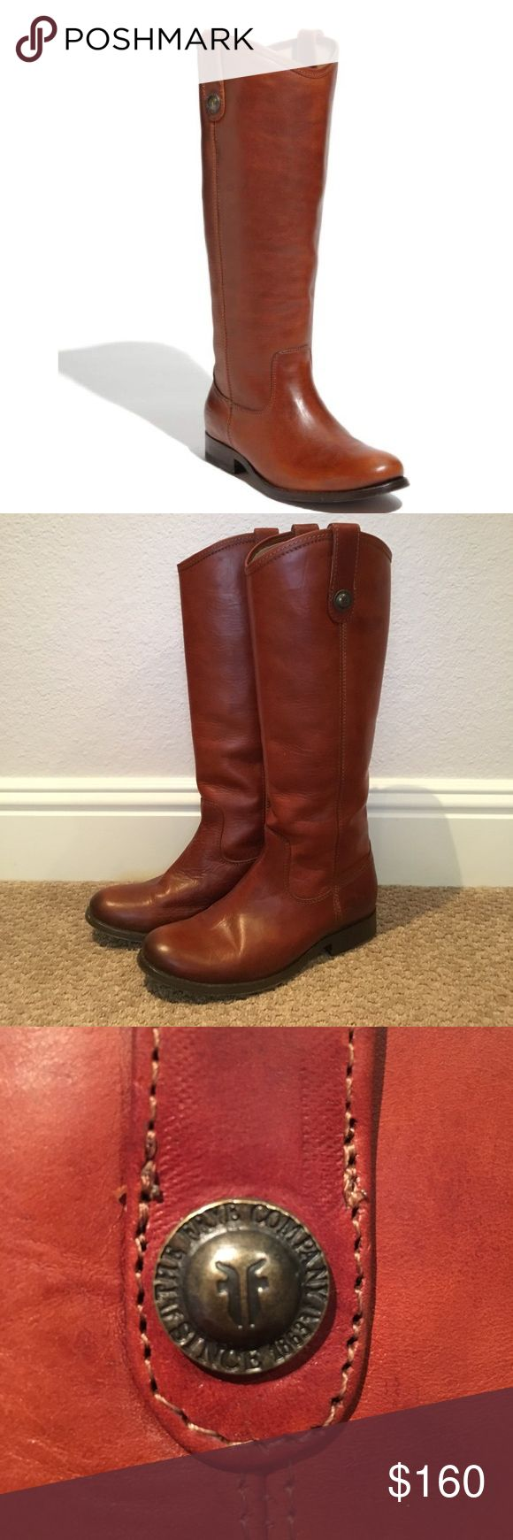 Melissa Frye boots Practically new! Worn twice and in great condition. Color: Bordeaux; with soft vintage leather Frye Shoes Winter & Rain Boots