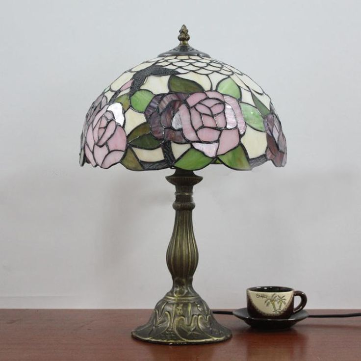 Cheap table lamp, Buy Quality rose table lamp directly from China table lamp tiffany Suppliers:     Red Rose Tiffany Table Lamp European Vintage Luxury Fashion Personality Glass Rose Desk Lamp BedroomTable Tiff