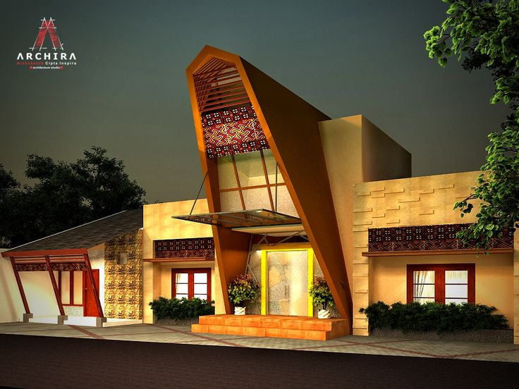 bangunan yang terinspirasi dari Rumah Adat Tongkonan (sumber : Archira)
