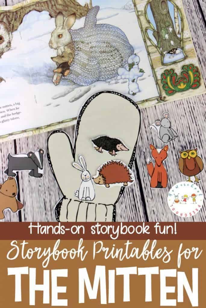 The Mitten Story Printable and Hands-On Activity for Preschool Do your kids love Jan Brett books? If so, they're going to love this The Mitten story printable and hands-on activity! Perfect for winter homeschool lessons! Preschool Literacy, Preschool Books, Free Preschool, Preschool Printables, Preschool Lessons, In Kindergarten, Printable Crafts, Winter Activities For Kids, Pre K Activities