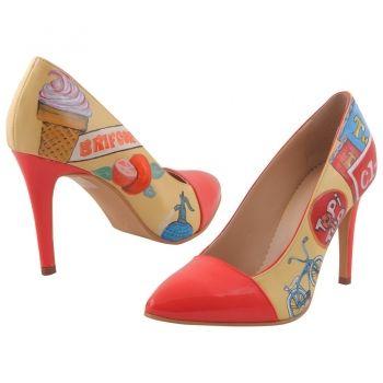 Pantofi Multicolor de dama Hotstepper Retro Electro