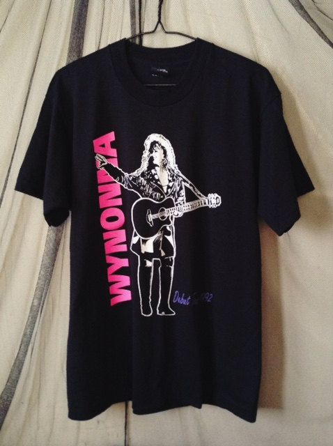 From Wynonnas debut tour, she went solo, released No One Else on Earth and went to #1 on Billboards Country Chart.  This vintage 92 shirt is in