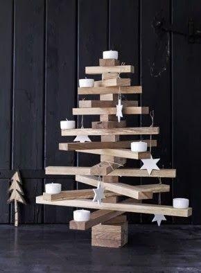 houten kerstboom wood christmas tree