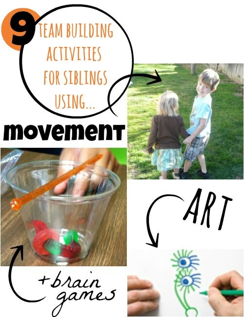 9 team building activities for kids. Great for siblings!!