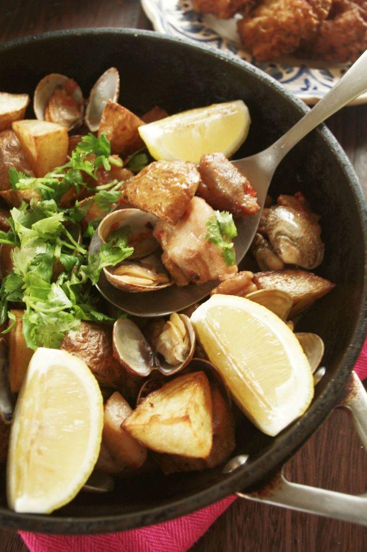 人気のポルトガル料理♪豚肉とあさりのアレンテージョ風 by ヤミー…