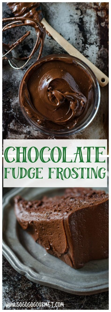 This Dark Chocolate Fudge Frosting is so rich, it will make the best chocolate cake ever! @gogogogourmet via @gogogogourmet