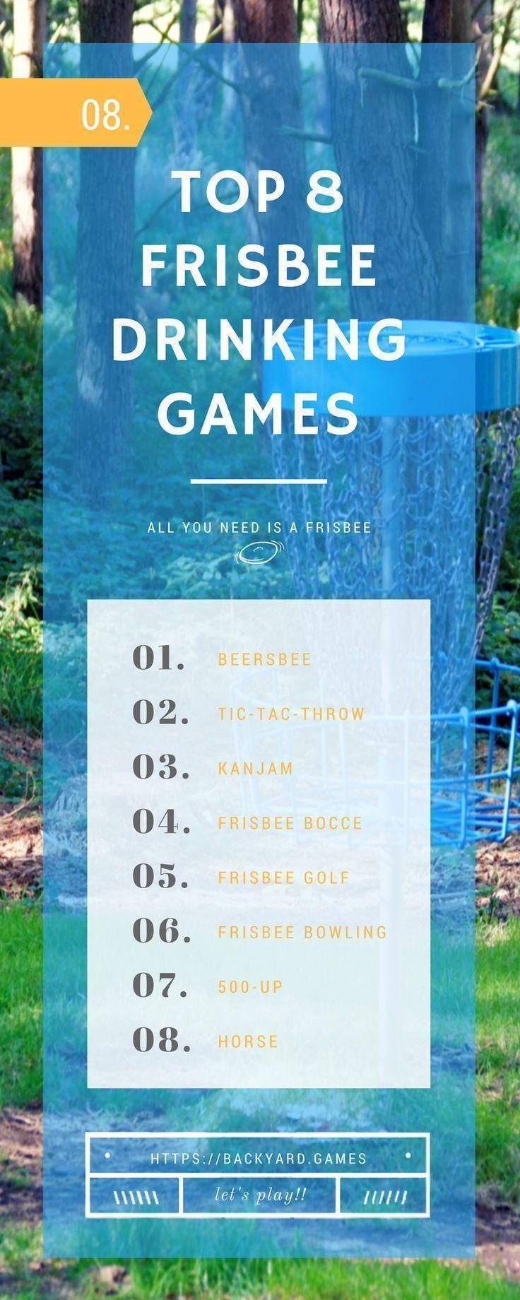 8 best frisbee drinking games | backyard toss games