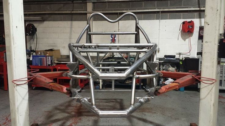 Our new Exo Rocket chassis, not painted. Although Exo Sports Cars adapted the engine bay to mount the 1.6 EcoBoost engine we may have to do some extra modifications to accommodate the extra cooling requirements of the engine.