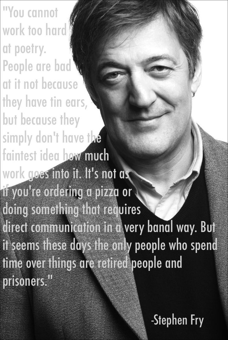 Stephen Fry on poetry...