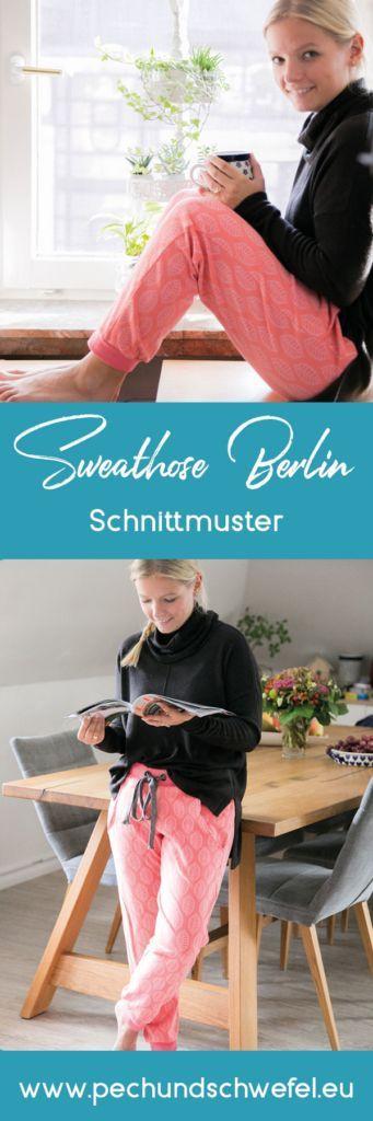 Schnittmuster Sweathose Berlin ein lässige Sweathose mit dem gewissen Extra