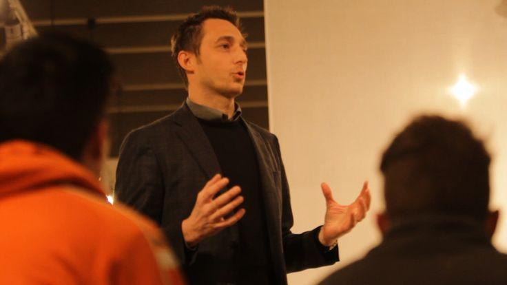 Filippo Berto at the first session of #divanoxmanagua