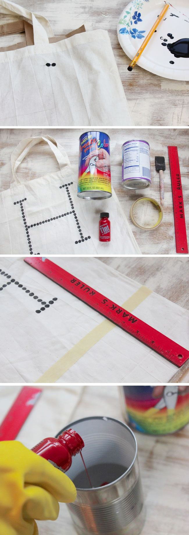 how to make tote bag with plasti dip