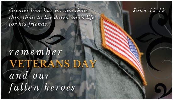 Don't 4-get Veteran's Day is Monday, November 12th.