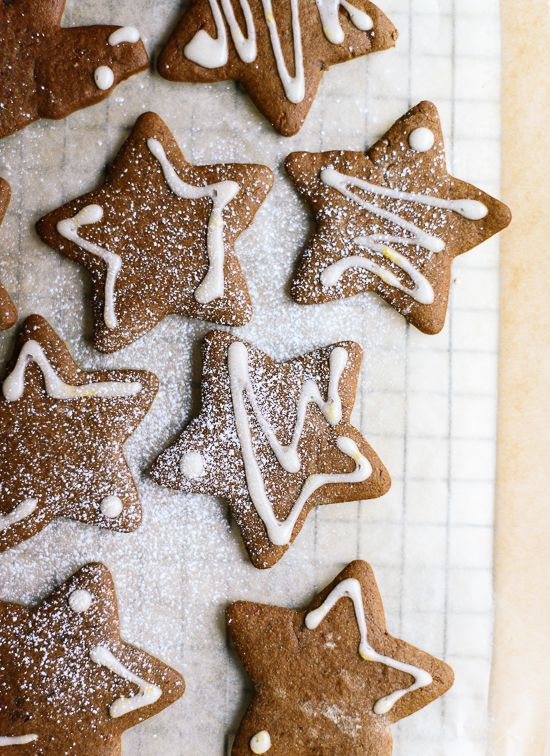 Classic gingerbread cookies, made with healthier ingredients! cookieandkate.com