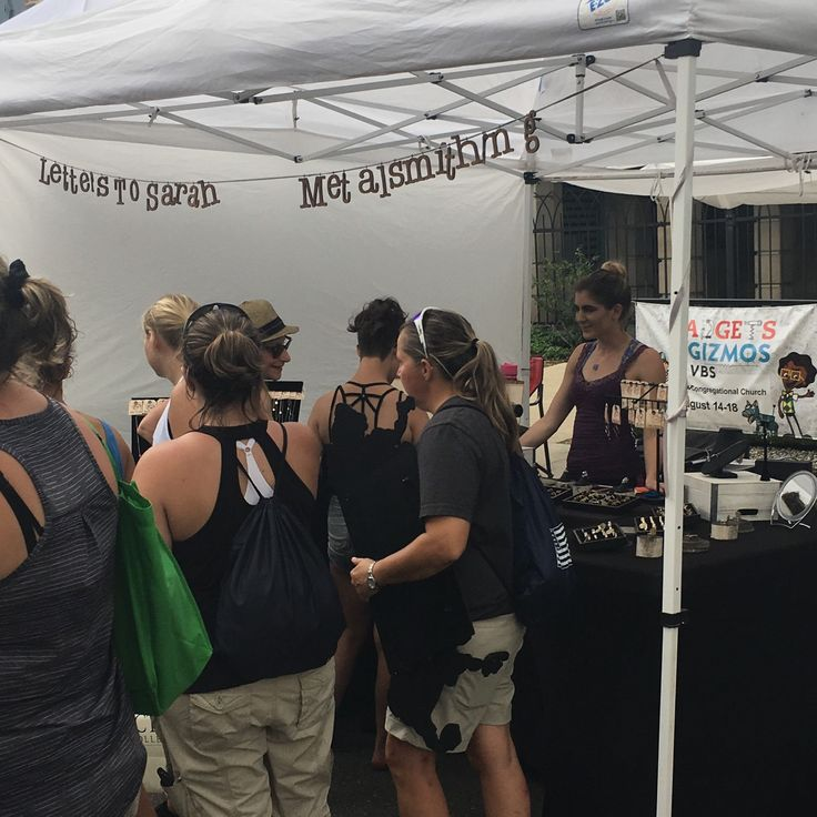 Another great Art Fair in downtown Ann Arbor! Thanks to everyone who stopped by the LTS pop up shop the past four days! #annarborartfair #annarborstreetfair #metalsmith #popupshop #popupstore #artfairlife #booth #letterstosarahmetalsmithing #lts