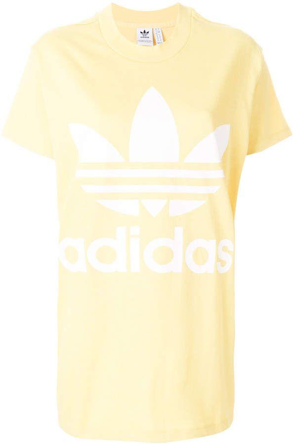 d8b4a06746f373 Adidas Trefoil print T-shirt