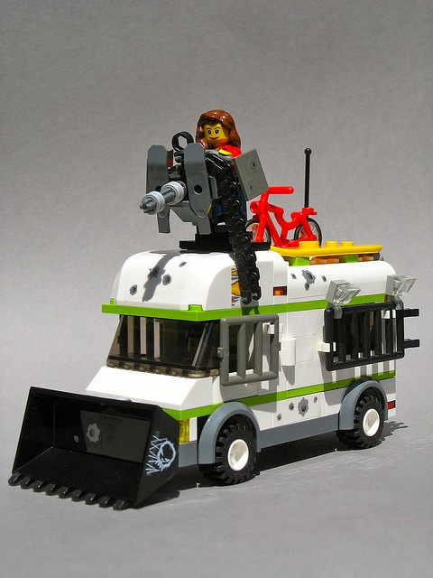 For the Zombie Apocalypse - Lego Style.  Please notice the bullet holes!