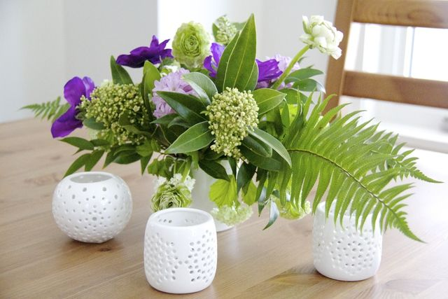Piece together a DIY floral arrangement for spring with advice from About.com. Use colors and textures to freshen up a room. Place on a dining table as a centerpiece or give as a gift to a friend or family member.