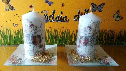 Velas decoradas «by Mindaia»