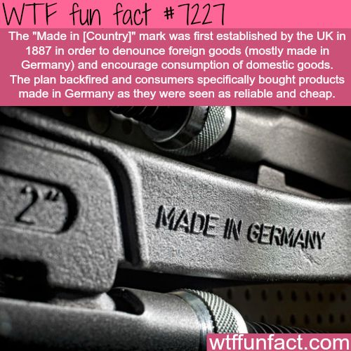 Made in Germany - WTF Fun Fact