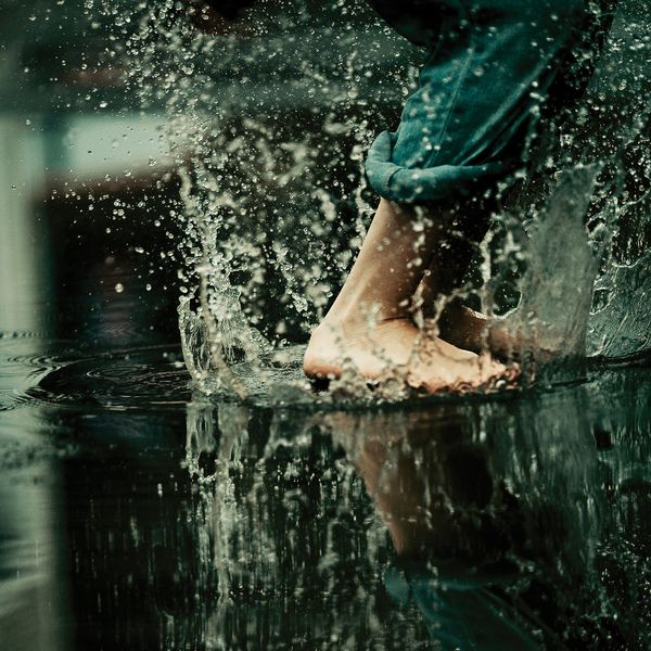 *puddle stomping*