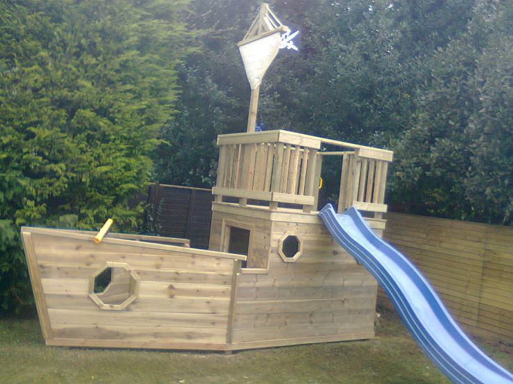 Pirate Ship built by Direct Timber for Woodstoc Northern Ireland.