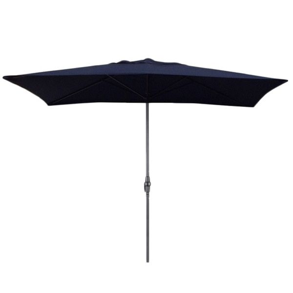 This 10 ft. rectangular umbrella makes a great addition to any patio for enjoying the outdoors in comfort. The sturdy aluminum pole features an easily adjustable crank-lift system for the perfect heig