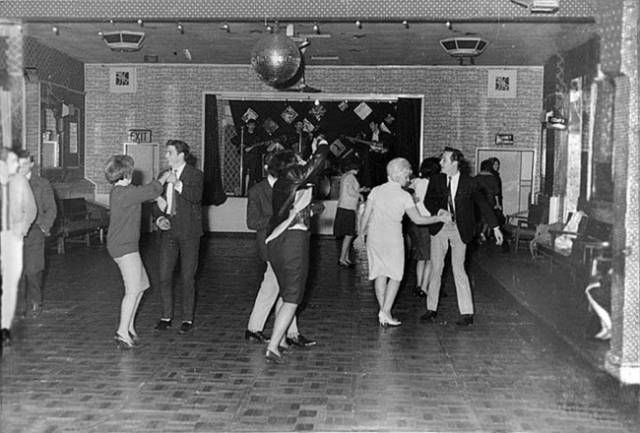The Beatles perform for 18 people in a modest club in the town of Aldershot, December 1961. A year and a half later they would be superstars.