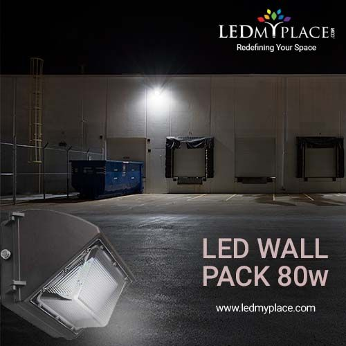 80w Led Wall Pack Light With Photocell Sensor 10 173 Lumens 5700k Bronze Finish Forward Throw Wall Pack Lights Wall Packs Led