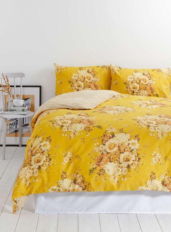 Vintage Nostalgia Yellow Floral Bedding Set - Bedding sets - Home Lighting & Furniture - BHS #bedroomdecor #bedroom #bedromideas #bedroomdesign #bedroominteriordesign #bedroomhomedecor #decor #homedecor