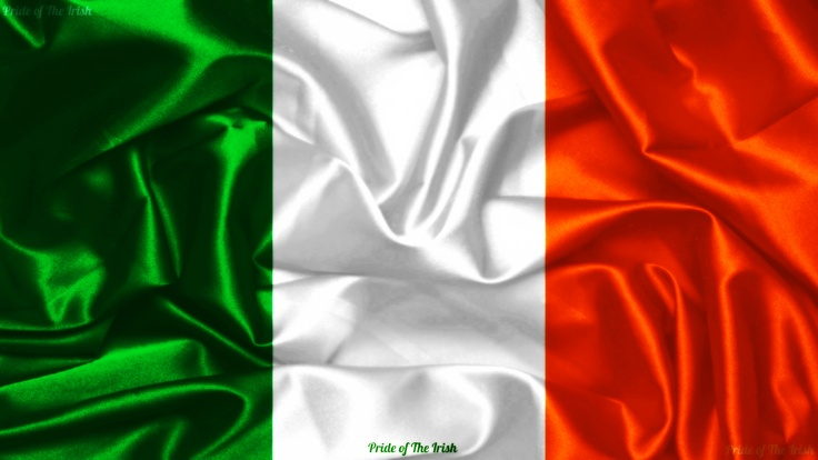 The Irish tricolor was gifted from the French to the Irish in 1848. The flag represents traditional Gaelic Ireland (green), followers of William of Orange (orange) & the hope for peace between to the two groups (white), a peace which has yet to become a reality for many. The flag has been considered the national flag of Ireland since the 1916 Easter Rising, but wasn't made official until 1919.