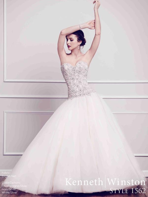 Mesésen díszített hercegnő fazonú esküvői ruha, kizárólag királylányoknak! #kennethwinston #weddingdress #princess #eskuvoiruha
