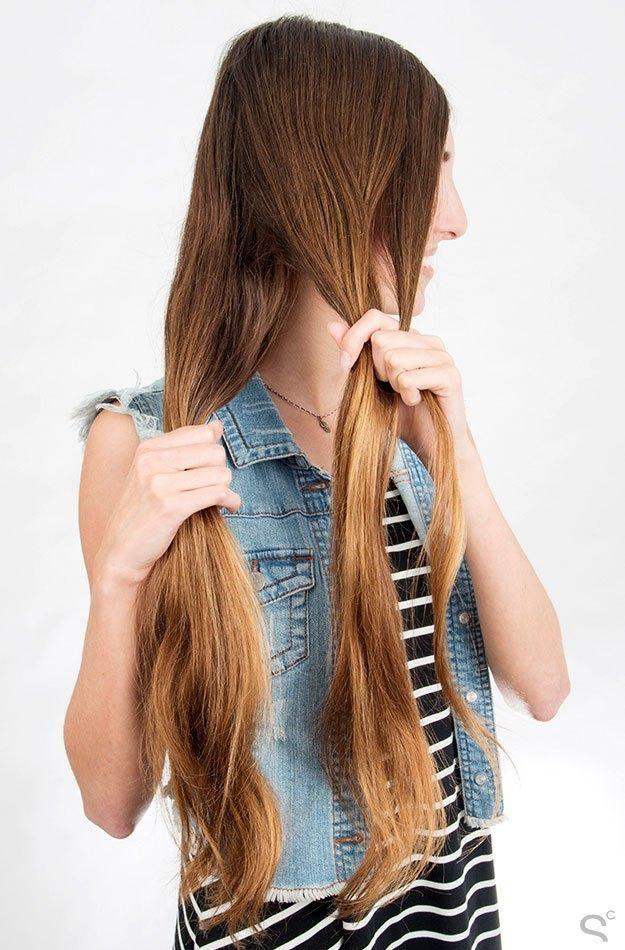 5-minute, Step by Step Hair Tutorial: The Herringbone Braid (similar to the fishtail braid)