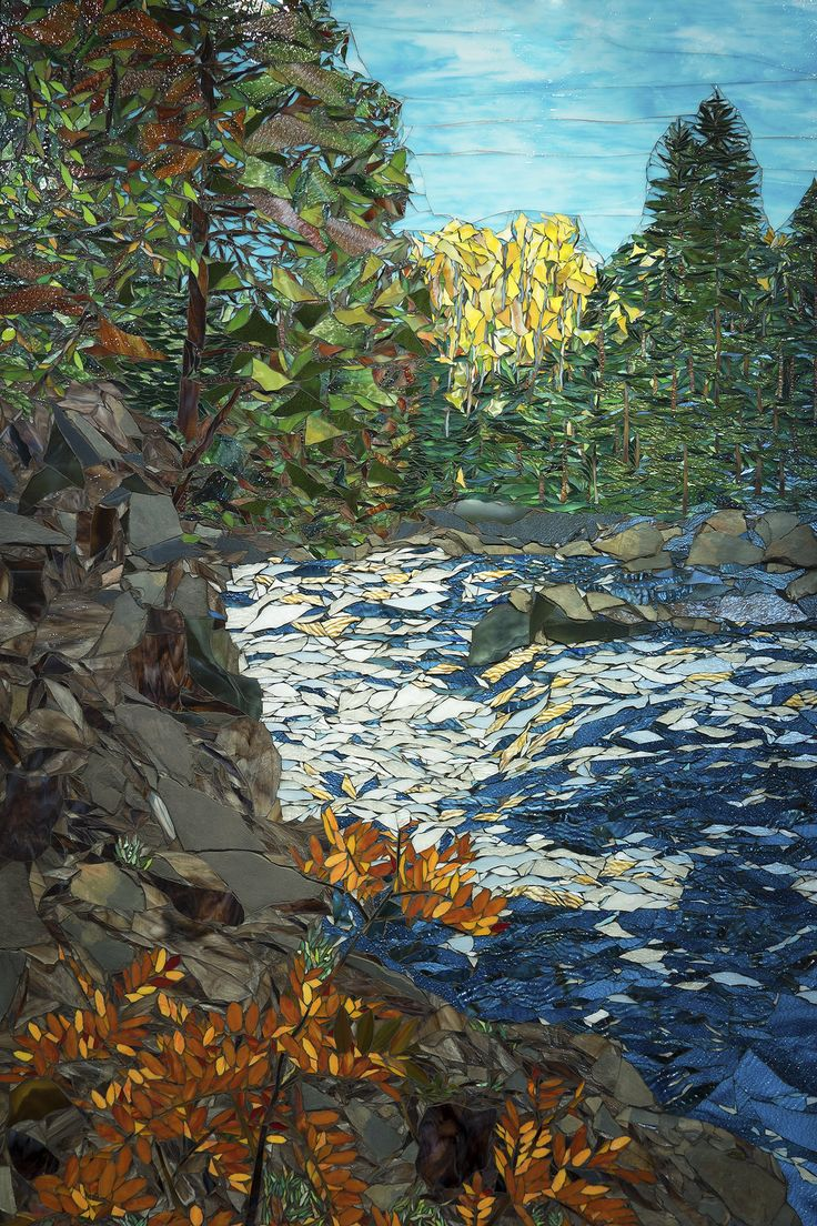 "Fall Along The River  72"" x 48"""
