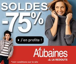 """""""Soldes d'Hiver"""" Les Aubaines de La Redoute !! Profitez jusqu'à -75% de réduction* sur les vêtements femme, homme et enfant"""