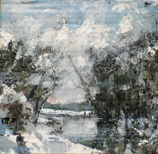 The Snow's Beginning To Melt Already | Oil on Board 28x27 cm