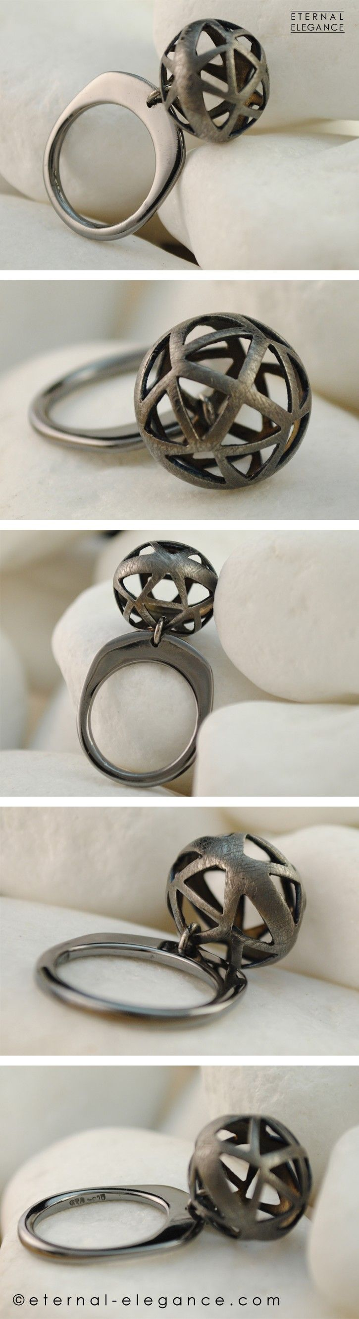 Get Out of the Ordinary! Black rhodium plated handmade ring