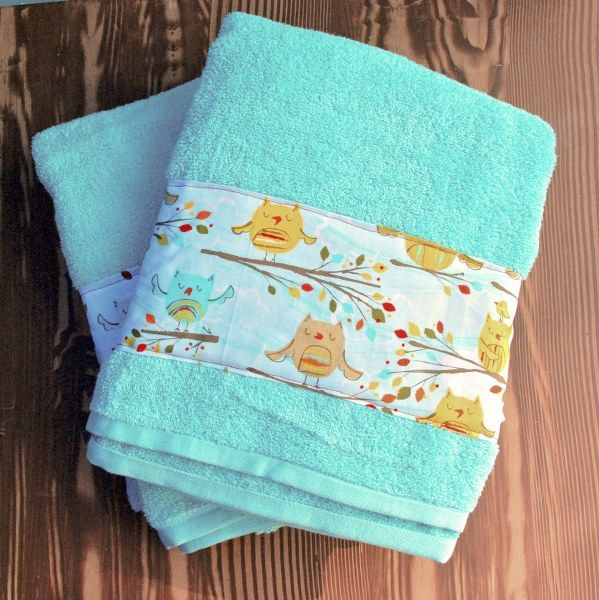 DIY Fabric Embellished Towels