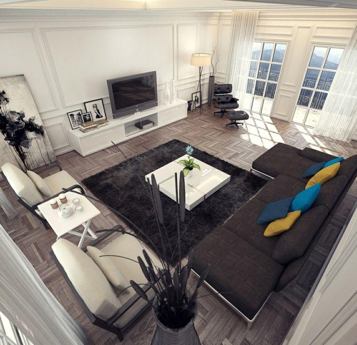 die besten 25+ schwarzes sofa ideen auf pinterest | schwarze couch ... - Wohnzimmer Ideen Schwarzes Sofa