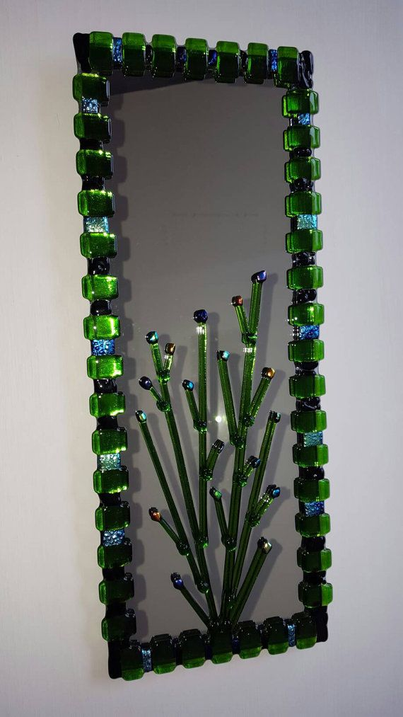 Check out this item in my Etsy shop https://www.etsy.com/listing/507011799/decorative-wall-mirror-fused-glass