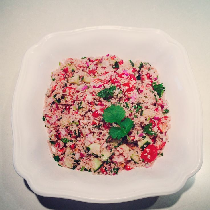 Delicious pink vegetable couscous from www.theparttimevegan.me