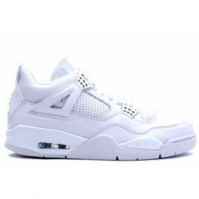 Air Jordan Retro 4 pure white metallic silver 308497-102 Sale For $84.00 47% off www.lanajordansmith.com/