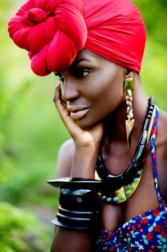 Peinados africano moderno 2015: Cabeza Wraps