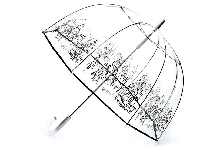 Cute and fun, especially if you don't have to share your umbrella! Clear Bubble Stick Umbrella, City | April Showers | One Kings Lane
