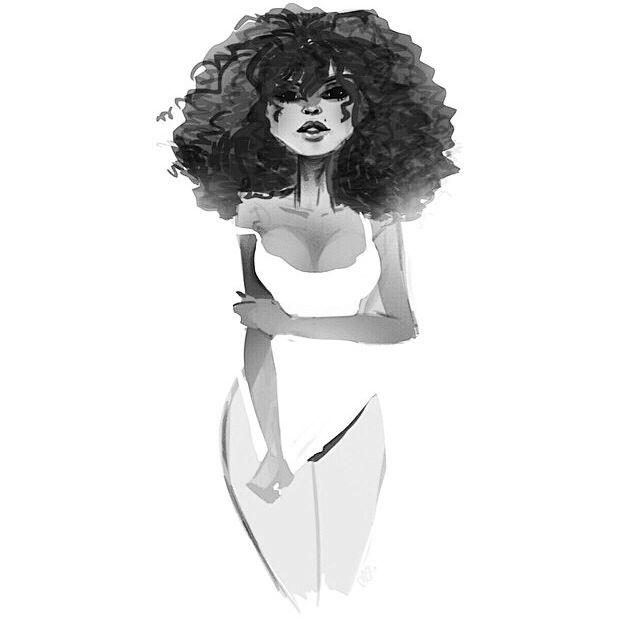 Black art + curly hair