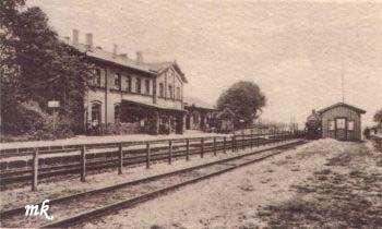 Stacja Bieniów. Zdjęcie z 1929r.