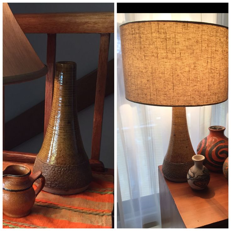 I call this one - my Tuscan lamp. From vase - to - lamp