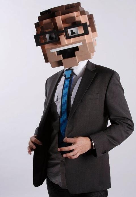 8bit business man