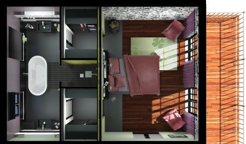 La salle de bains reste mon activit principale mais - Appartement au design traditionnel moderne colore ...