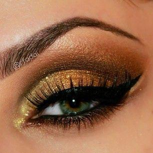 gold goddess eyes #makeup